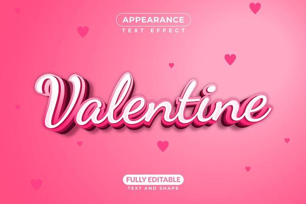 Efeito de texto valentine fevereiro amor