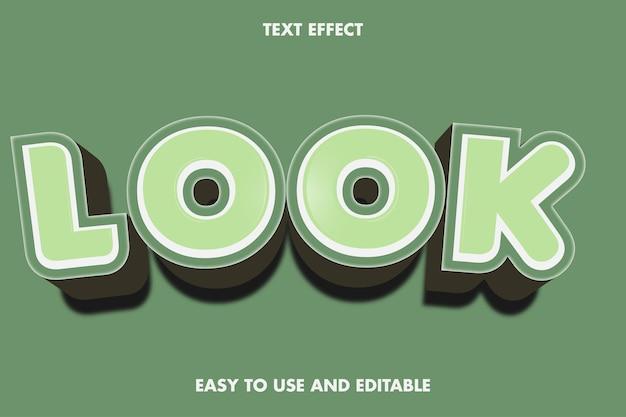 Efeito de texto - veja. fácil de usar e editável. ilustração vetorial premium
