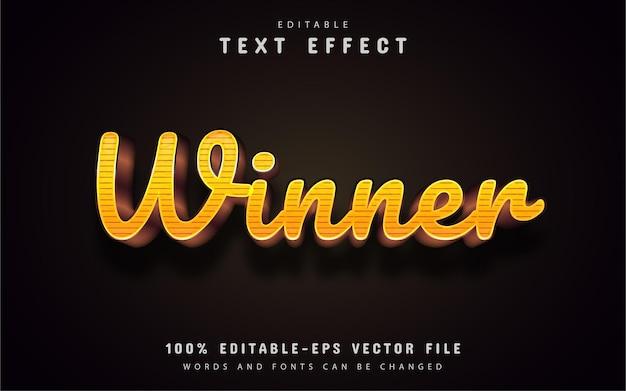 Efeito de texto vencedor editável