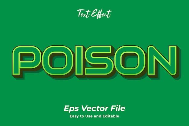 Efeito de texto veneno editável e fácil de usar vetor premium