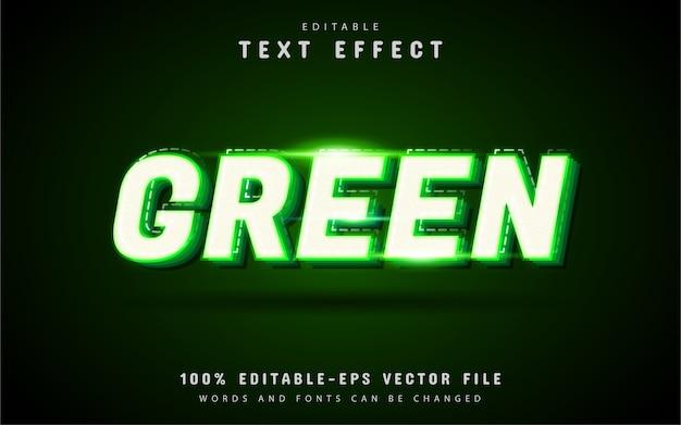 Efeito de texto verde com linha pontilhada