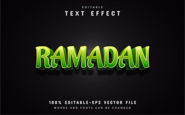 Efeito de texto verde do ramadã