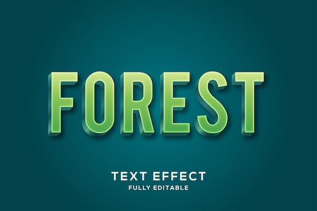 Efeito de texto verde em negrito minimalista