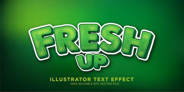 Efeito de texto verde fresco efeito de estilo de design