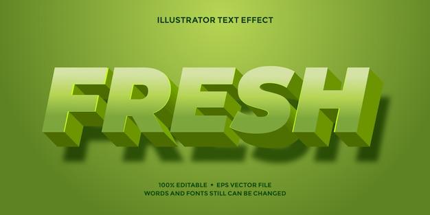 Efeito de texto verde retrô 3d