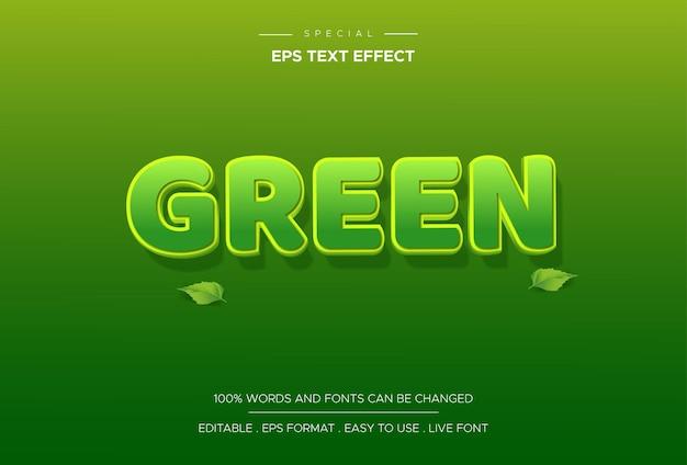 Efeito de texto verde