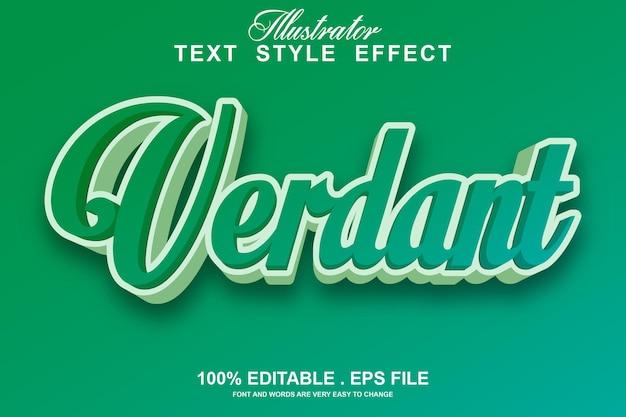 Efeito de texto verdejante editável