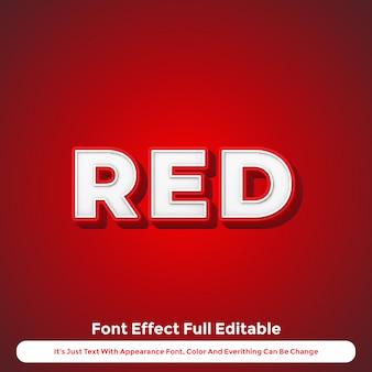 Efeito de texto vermelho 3d