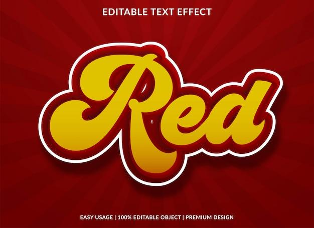 Efeito de texto vermelho com estilo retrô