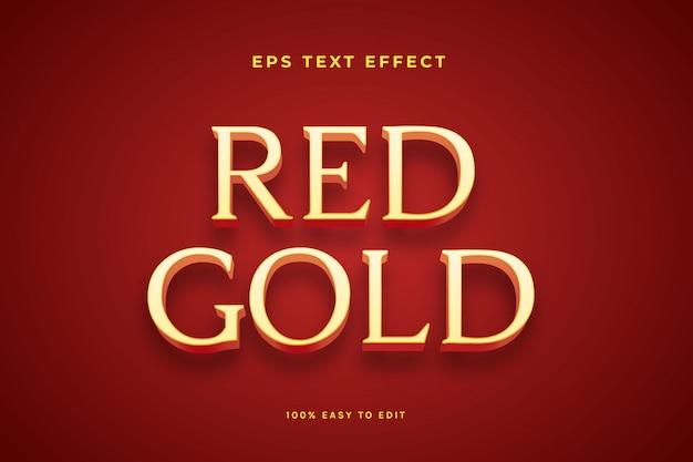 Efeito de texto vermelho dourado