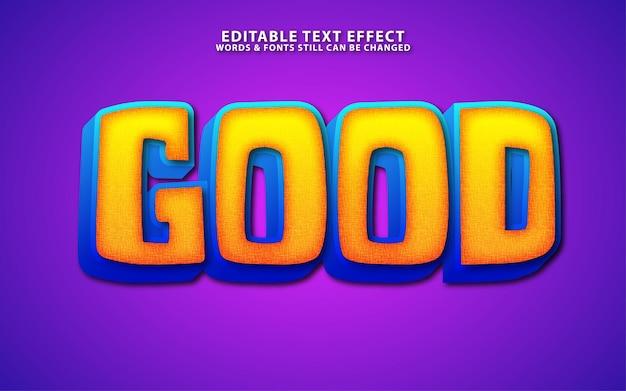 Efeito de texto vetorial de desenho animado editável