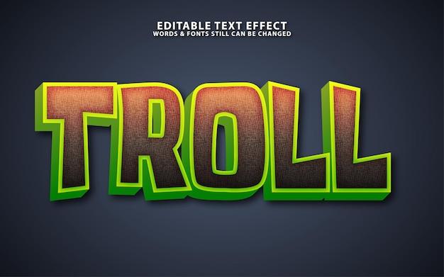 Efeito de texto vetorial de desenho animado moderno editável
