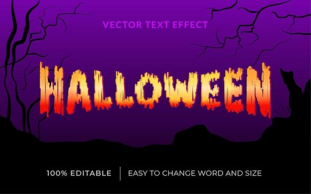 Efeito de texto vetorial de halloween