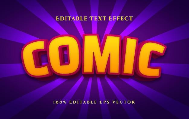 Efeito de texto vetorial editável de estilo 3d de super-herói em quadrinhos