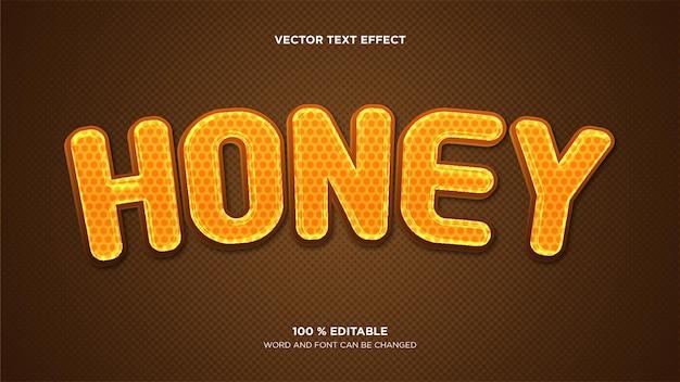 Efeito de texto vetorial editável de mel