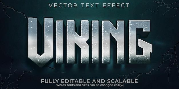 Efeito de texto viking, estilo de texto nórdico e norueguês editável