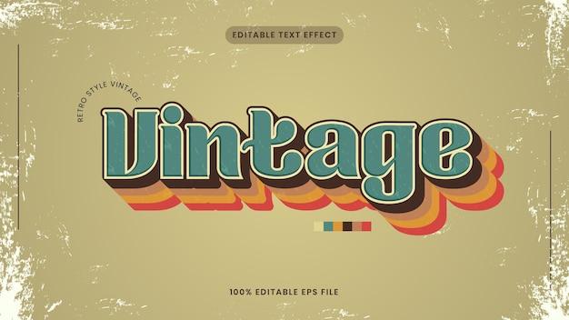 Efeito de texto vintage ou retro editável