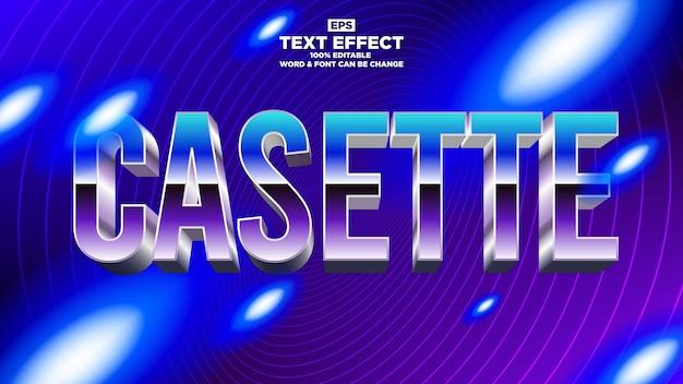 Efeito de texto vintgae moderno com conceito de fundo synthwave