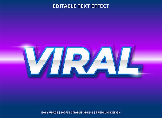 Efeito de texto viral com uso de estilo neon para título de conteúdo