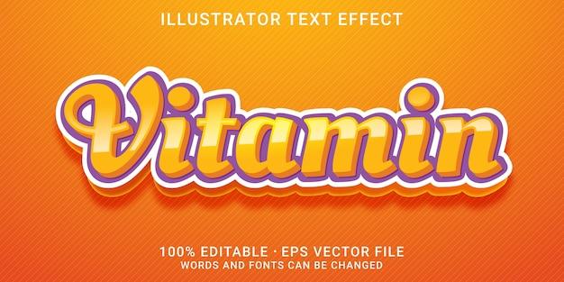 Efeito de texto vitamina 3d