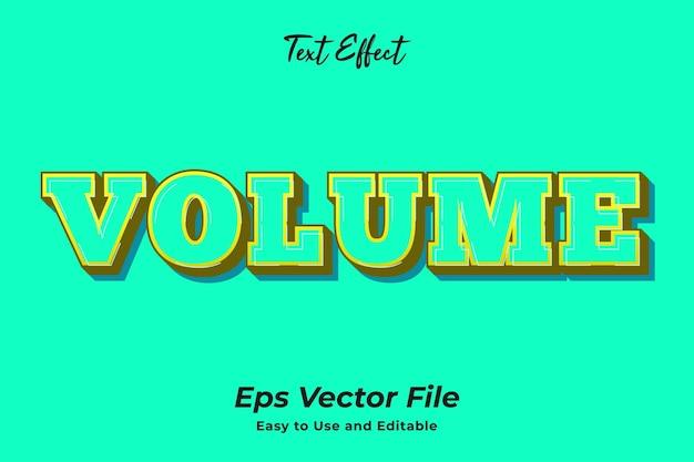 Efeito de texto volume editável e fácil de usar vetor premium