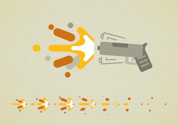 Efeito de tiro de arma para videogames