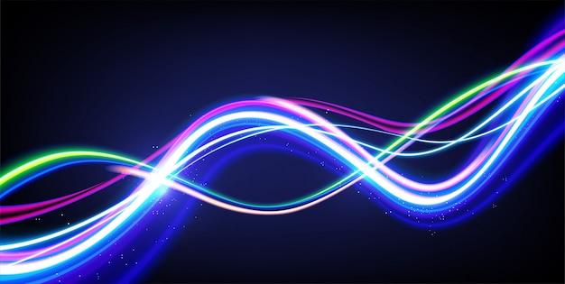 Efeito de trilhas de luz do obturador lento
