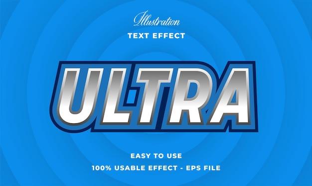 Efeito de ultra texto