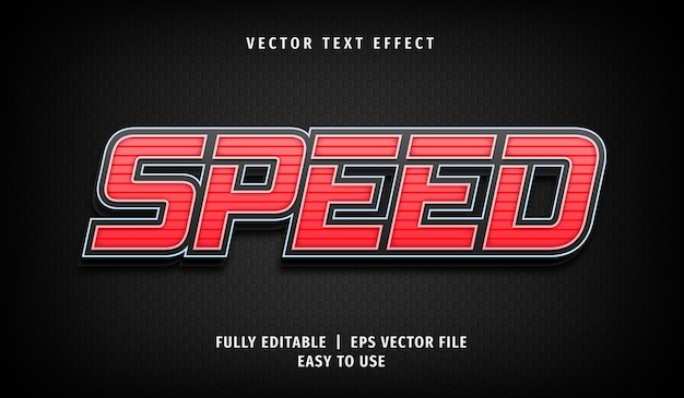 Efeito de velocidade de texto, estilo de texto editável