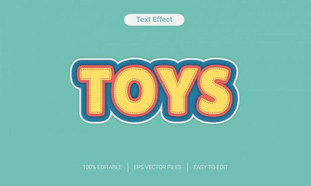Efeito divertido de estilo de texto de brinquedos