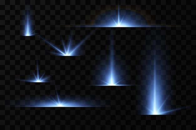 Efeito do brilho das estrelas azuis partículas de luz