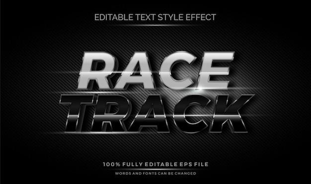 Efeito do estilo do texto editável 3d do cromo do carbono dos esportes.
