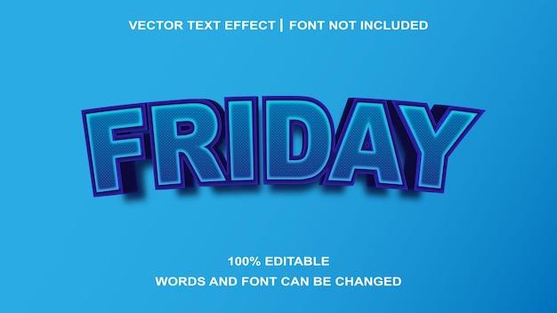 Efeito do texto criativo de sexta-feira