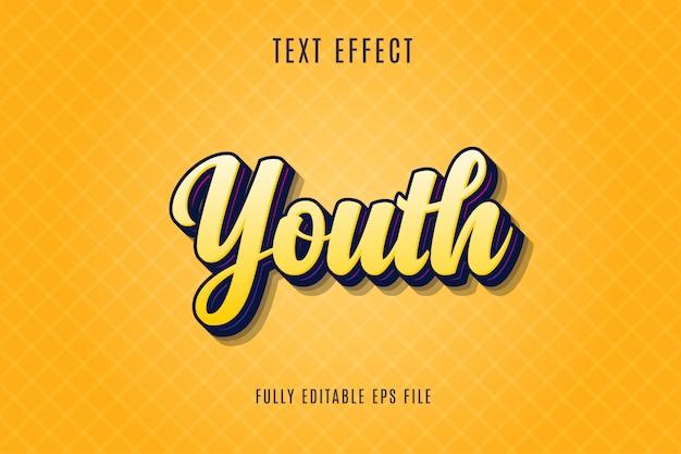 Efeito do texto da juventude