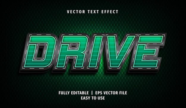 Efeito drive text, estilo de texto editável