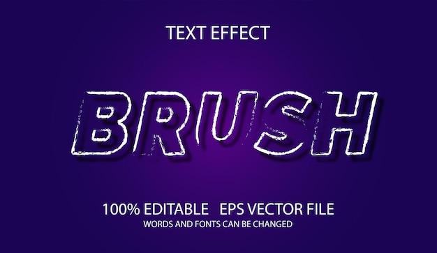Efeito editável do estilo de texto 3d do pincel