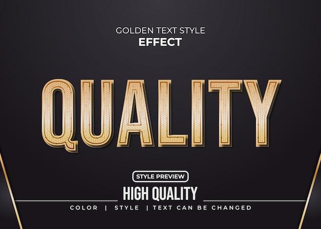 Efeito elegante texto dourado com estilo retrô moderno