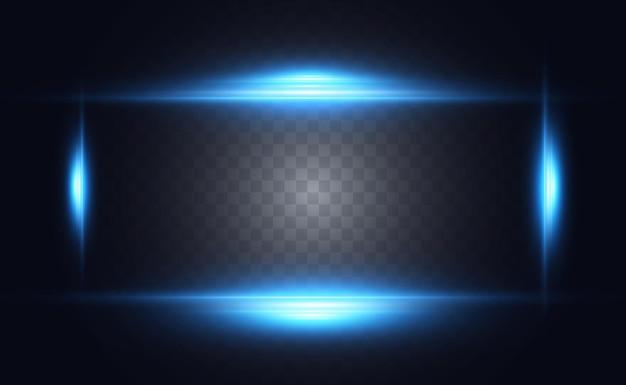 Efeito especial azul claro listras brilhantes brilhantes