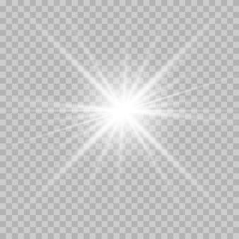 Efeito especial de flash de luz.