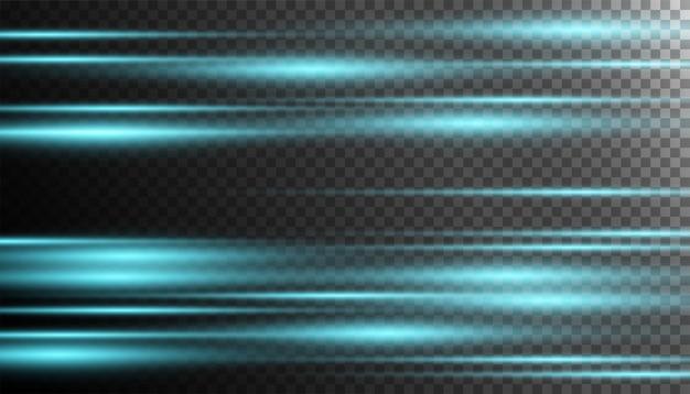 Efeito especial de luz de néon azul