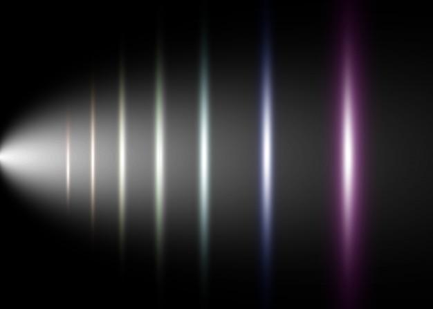 Efeito especial de luz de vetor. listras luminosas em um fundo transparente.