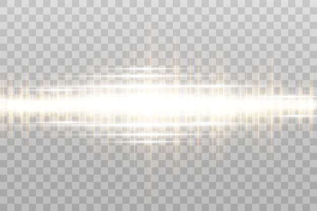 Efeito especial de luz. listras luminosas em uma moldura.