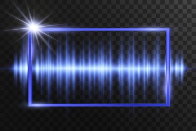 Efeito especial de luz. listras luminosas. ilustração