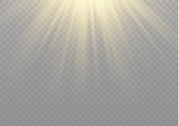 Efeito especial de reflexo de luz com raios de luz e brilhos mágicos. conjunto de efeito de luz transparente de brilho, explosão, brilho, faísca, flash do sol.