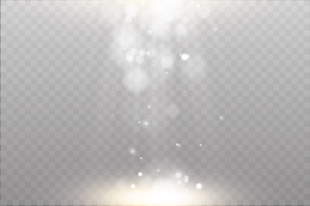 Efeito especial de reflexo de luz com raios de luz e brilhos mágicos.