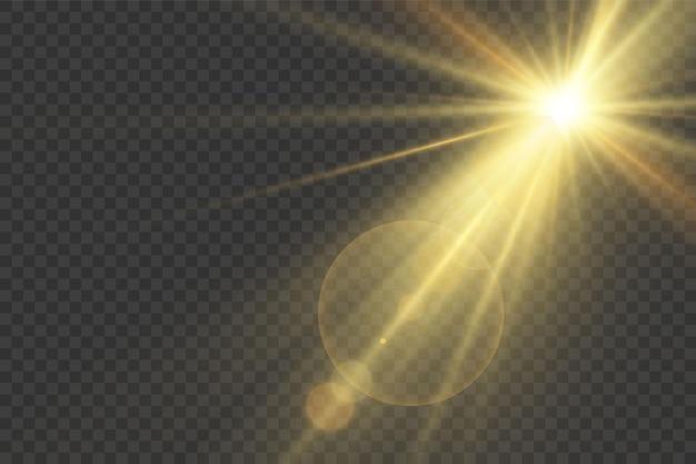 Efeito especial de reflexo de luz. ilustração vetorial.