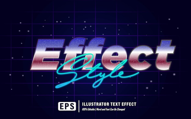 Efeito estilo efeito de texto - editável