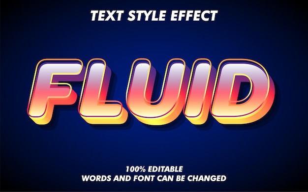 Efeito fluid gradient text style moderno