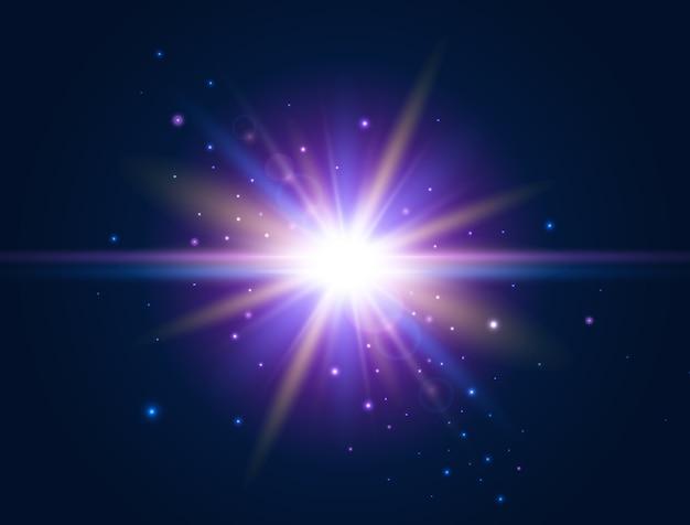 Efeito futurista de luz brilhante