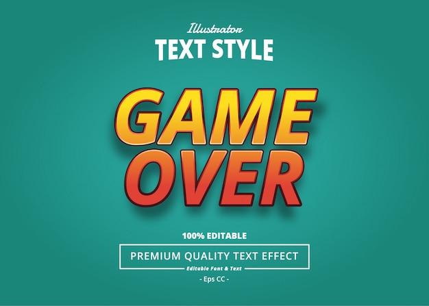 Efeito game over text